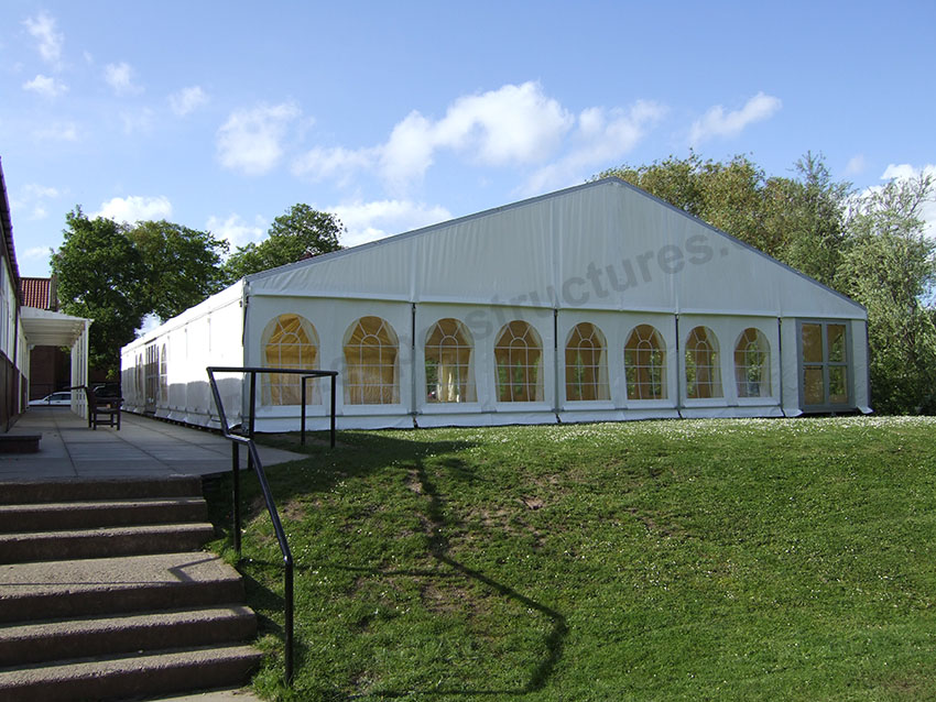 20x30m party tent with clear church style windows