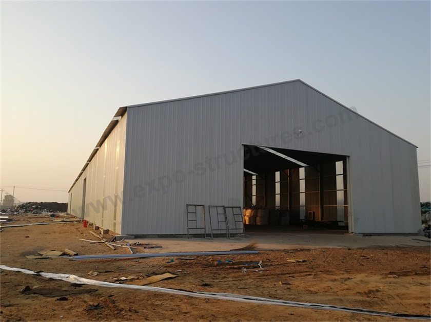 Industrial Storage Tent with steel sheets