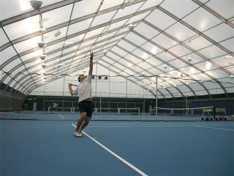 Curved Sports Tent for Tennis