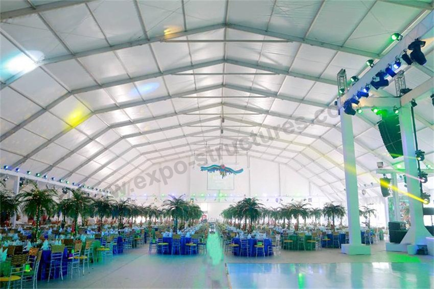 Polygon Marquee Event Tent installed in Dubai