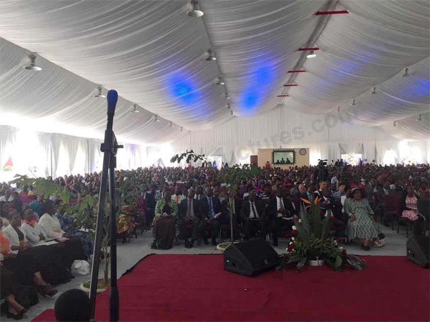 Church Prayer Tent for 2000 people in Zambia