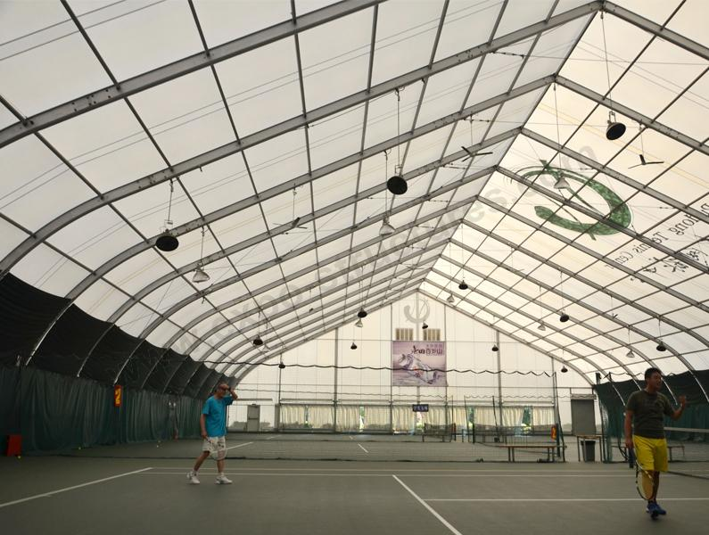 Curved Roof Tent for Tennis Court