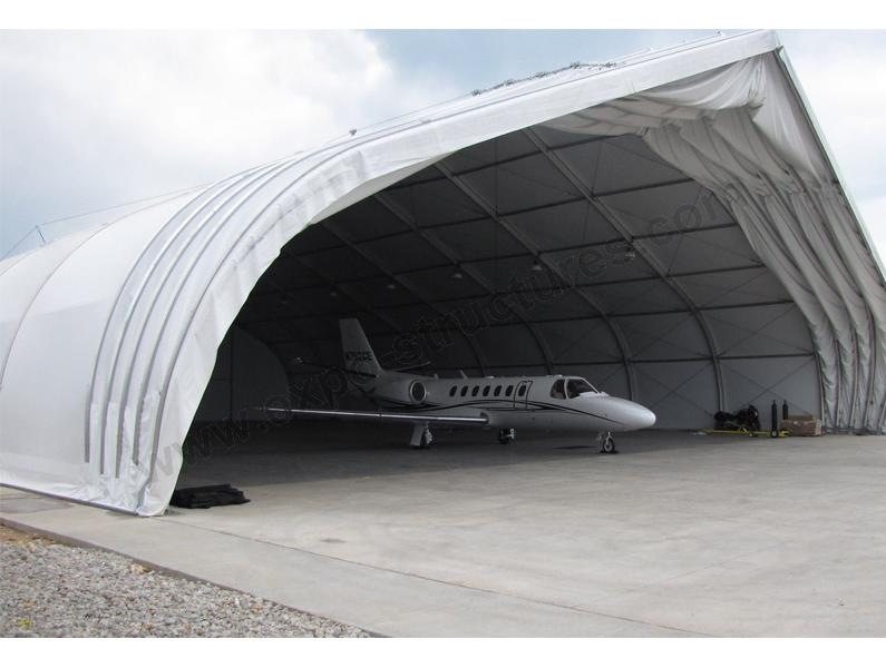 Curved Design Aircraft Hangar Tent