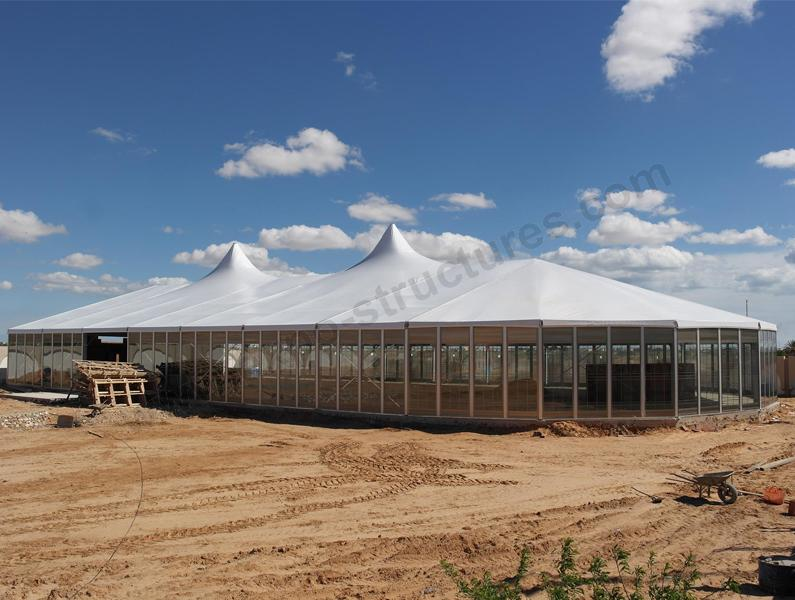 Large Mixed Party Tent with Glass Wall