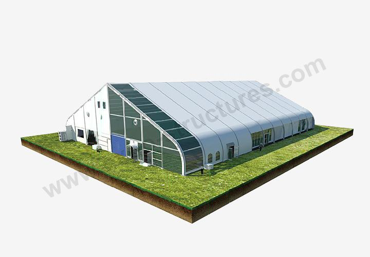 Large aluminum frame curved shape Aircraft Tent