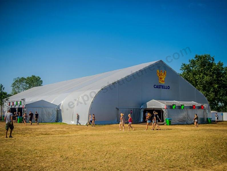 New design large clear span curve tent for concerts