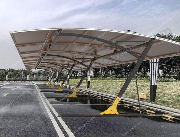 High quality Carports connected to cover many cars