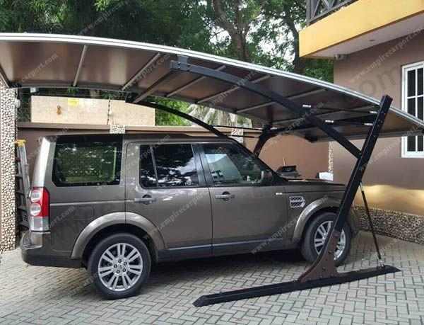 Hot selling brown single aluminium carport